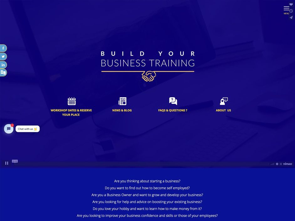 The Business Training website created by it'seeze