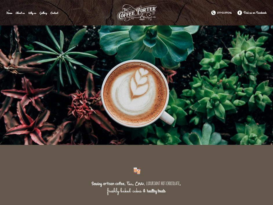 The Coffee Porter website created by it'seeze