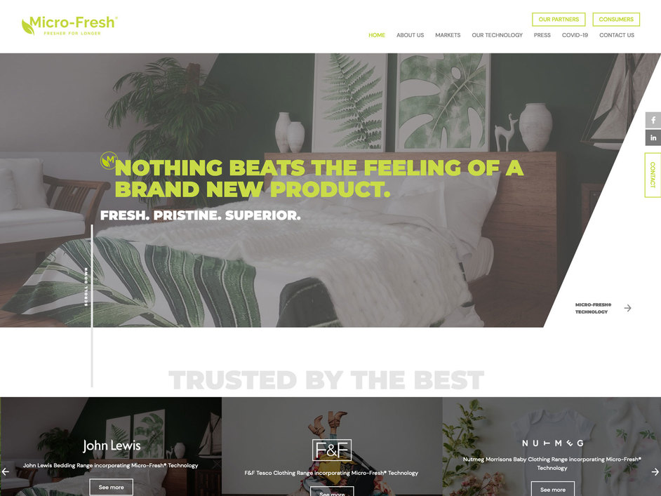 The Micro-Fresh website created by it'seeze