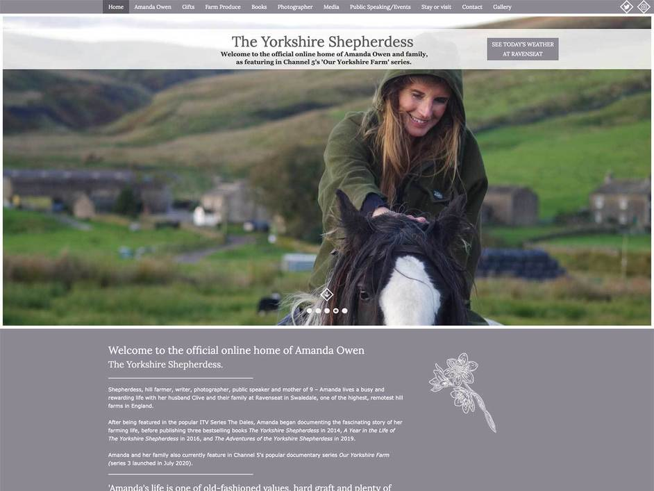 The Yorkshire Shepherdess website created by it'seeze
